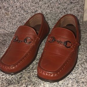 Chestnut brown dress shoes boys